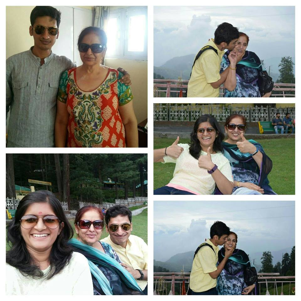 Mom, Shipra and me